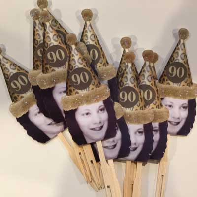 Custom photo cupcake toppers