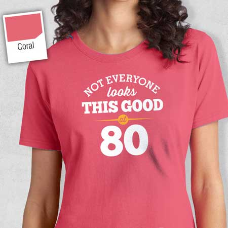 80th birthday t shirt