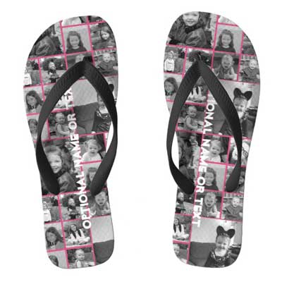 photo collage flip flops