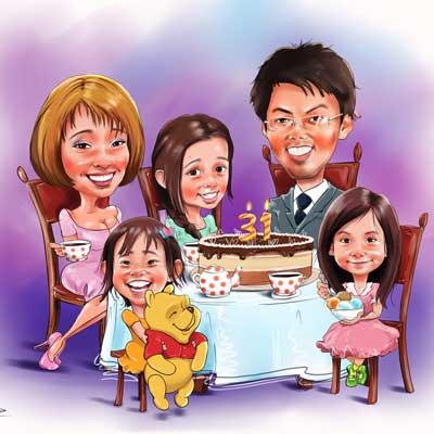 cartoon caricature portraits