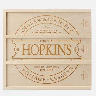 personalized wine crate
