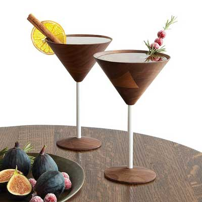 Wooden Cocktail Glasses