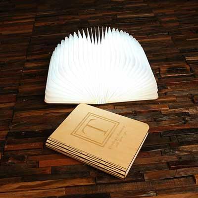 folding accordian book lamp