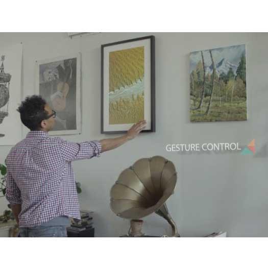 Gesture-controlled digital art frame