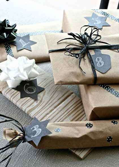 A Gift Every Hour Wrapped And Numbered Gifts