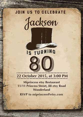 vintage style invitation