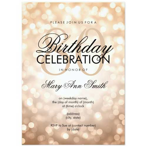 sparking lights invitation