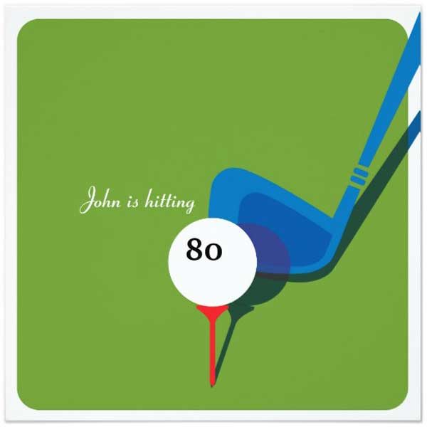 hitting 80 golf invitation