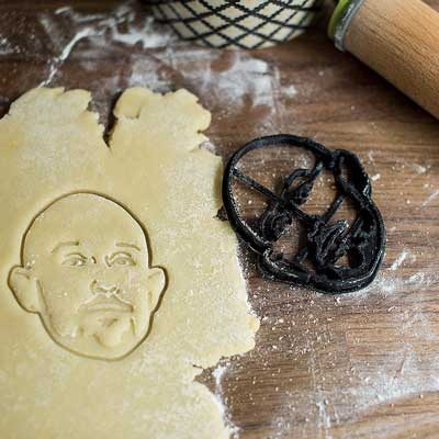 custom portrait cookie cutter