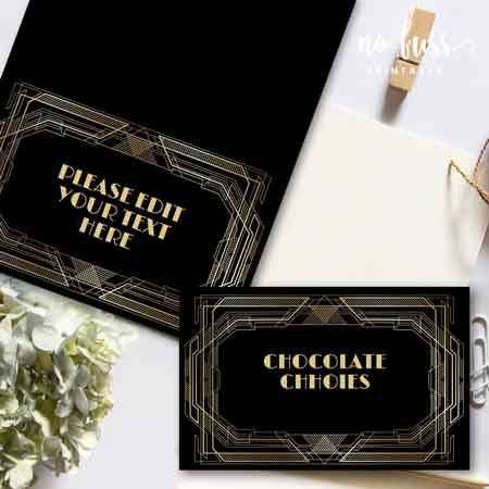 Great Gatsby Art Deco style food tents