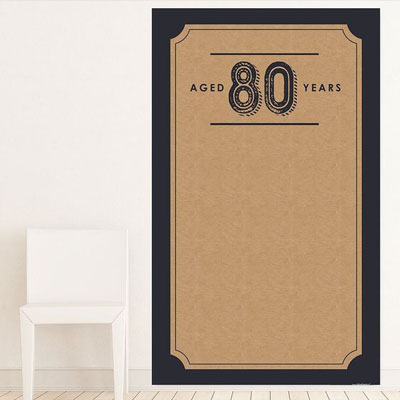Aged to Perfection 80th birthday backdrop