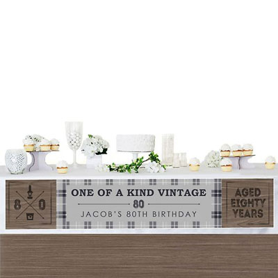 Aged to Perfection 80th birthday banner