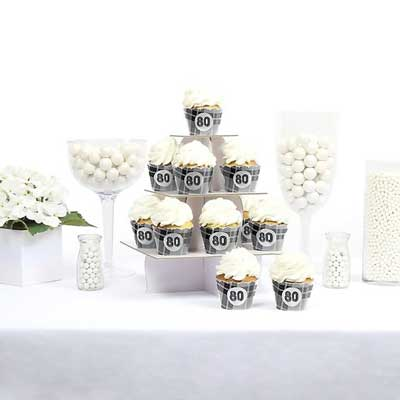 Aged to Perfection 80th birthday cupcake toppers