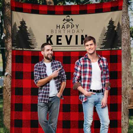 lumberjack backdrop wall tapestry