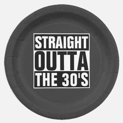 Straight Outta The 40's party plates