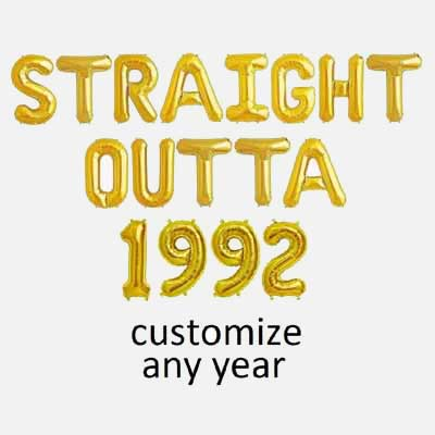 Straight Outta custom balloons
