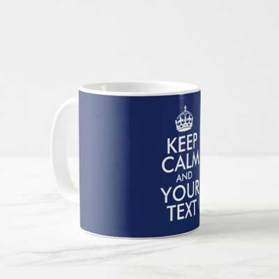 Custom Keep Calm mug