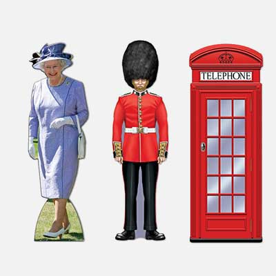 British theme standees
