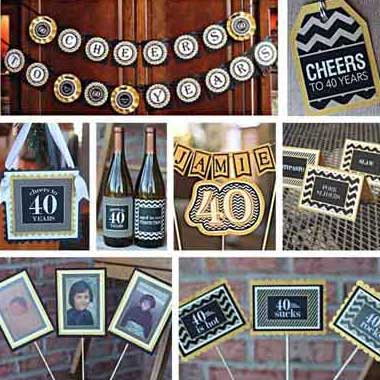 Cheers to 40/50/60/70/80 years party supplies