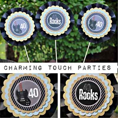 40/50/60/70 Rocks party decorations