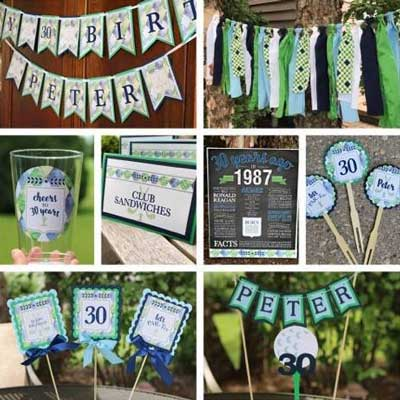 Golf Par-Tee milestone birthday decorations