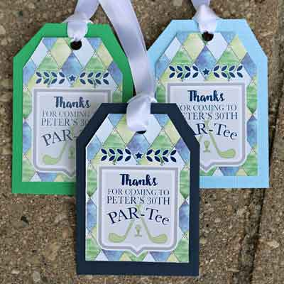 Golf Par-Tee milestone birthday favor tags