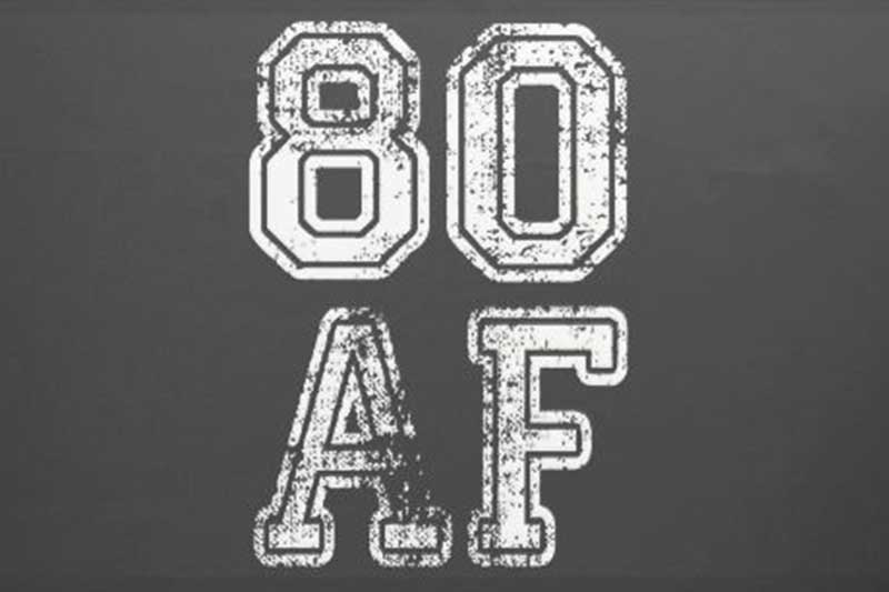80 AF party theme