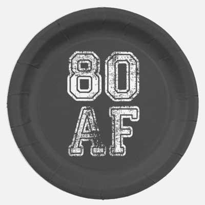80 AF party plates