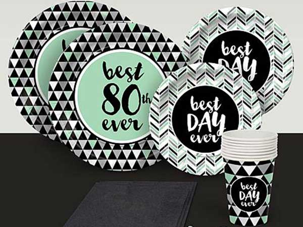 Best Day Ever 80th birthday party supplies