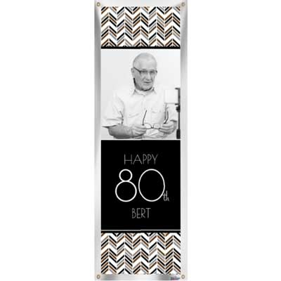 Best Day Ever 80th birthday custom banner