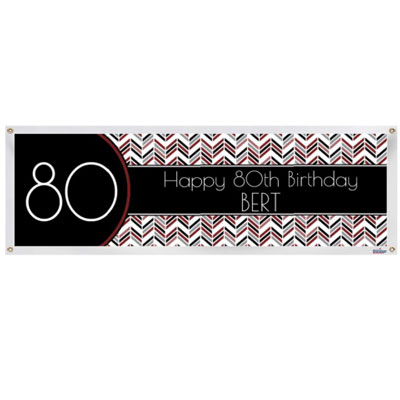 Best Day Ever 80th birthday banner