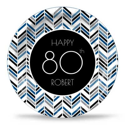 Best 80th Ever blue party plates
