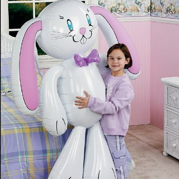 white rabbit balloon