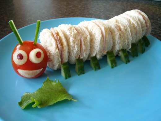 caterpillar sandwiches