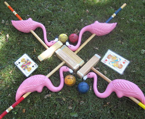 pink flamingo croquet
