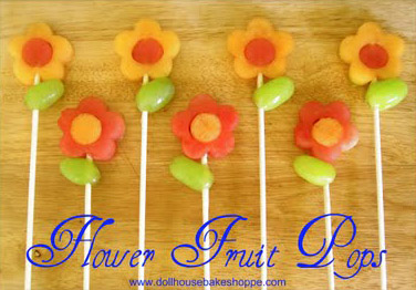 princess party ideas fruit flower pops