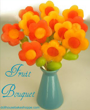 princess party ideas fruit bouquets