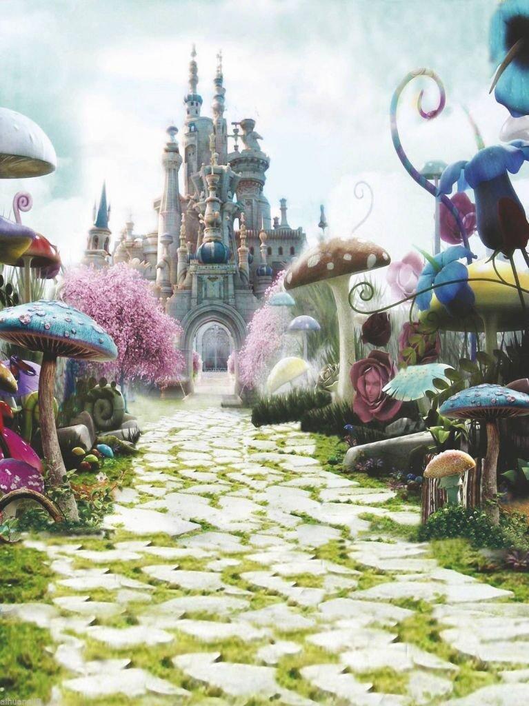 alice in wonderland backdrop
