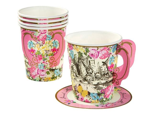 alice in wonderland paper cups