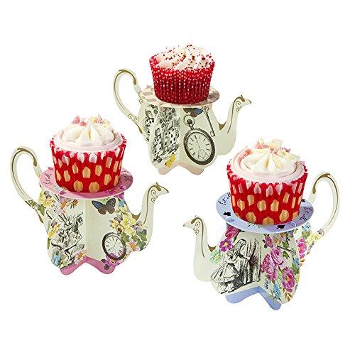 alice in wonderland cupcake stands