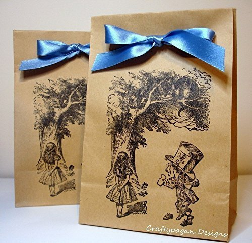 alice in wonderland favor bags