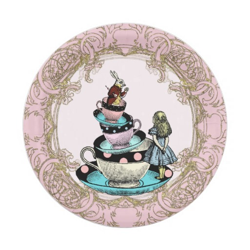 alice in wonderland party plates
