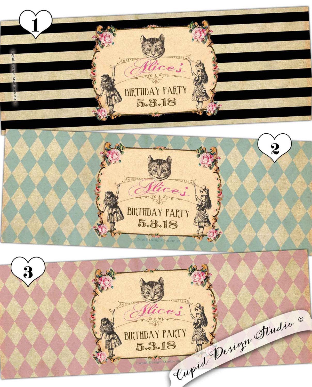 alice in wonderland printable labels