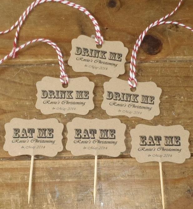 eat me drink me labels
