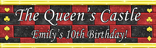 alice in wonderland personalized banner