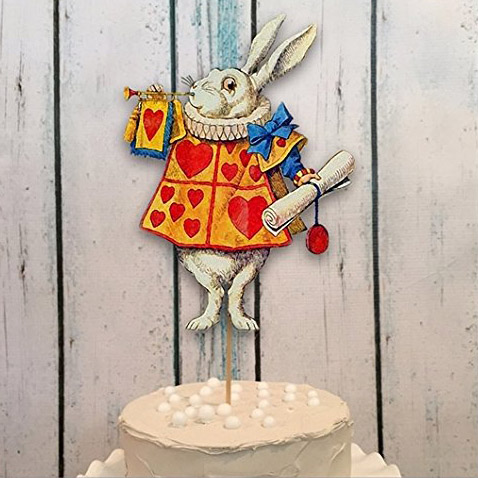Alice in Wonderland cake topper