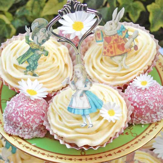 Alice in Wonderland cupcake toppers