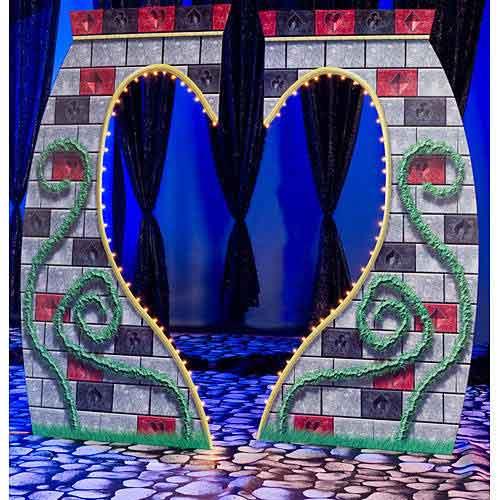 queen of hearts castle standee