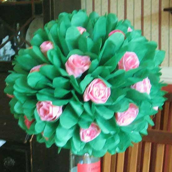 rose bush pom poms