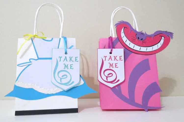 alice in wonderland party favor bags